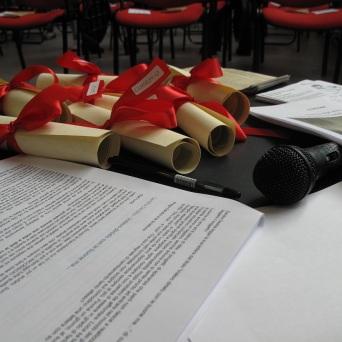 1. Corso di Scrittura CreAttiva - ScriviAmo 2015, Serata alla MEM di Cagliari 11 aprile 2015, Gli attestati, foto by Duranti© - All rights reserved