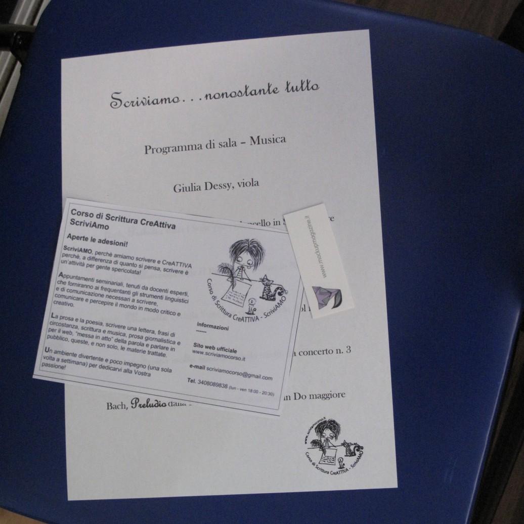 Cagliari, Libreria Murru, 24 luglio, ore 19:00, Scriviamo…nonostante tutto – Reading degli allievi del IV Corso di Scittura CreAttiva – ScriviAmo, Programma di sala