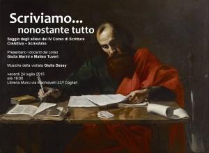 Scriviamo...nonostante tutto, 24 luglio, ore 19, Libreria Murru di Cagliari