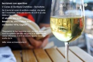 Corso di Scrittura CreAttiva - ScriviAmo, Iscrizione con aperitivo, Babeuf, 27 ottobre, Cagliari
