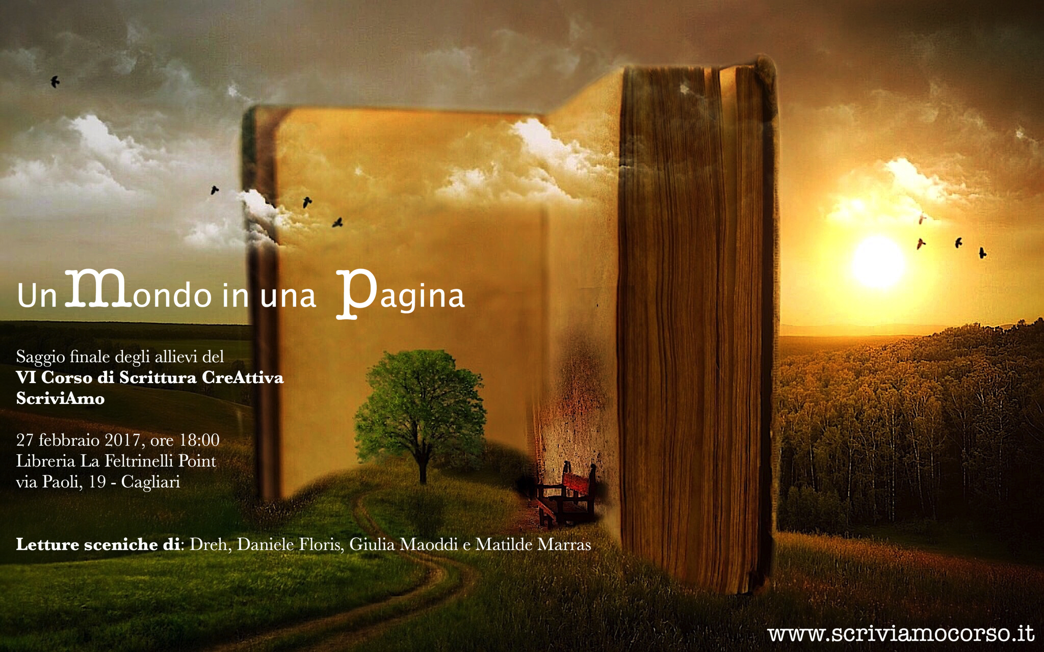 """""""Un Mondo in una Pagina"""" – Saggio degli allievi del VI corso di scrittura"""