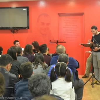 """""""Le Occasioni"""", Daniele Floris legge uno dei lavori degli allievi"""