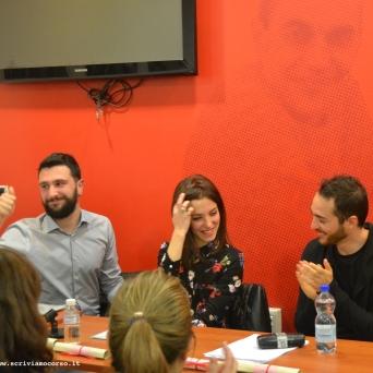 """""""Le Occasioni"""", gli attori che hanno dato vita al reading: Dreh Busu, Giulia Maoddi e Daniele Floris"""